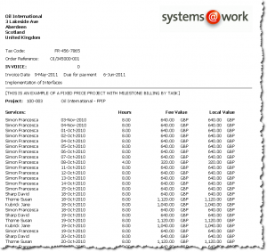 time@work Invoice Example